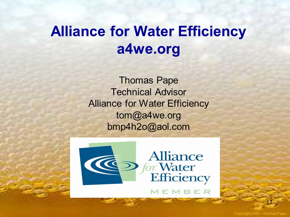 Alliance for Water Efficiency