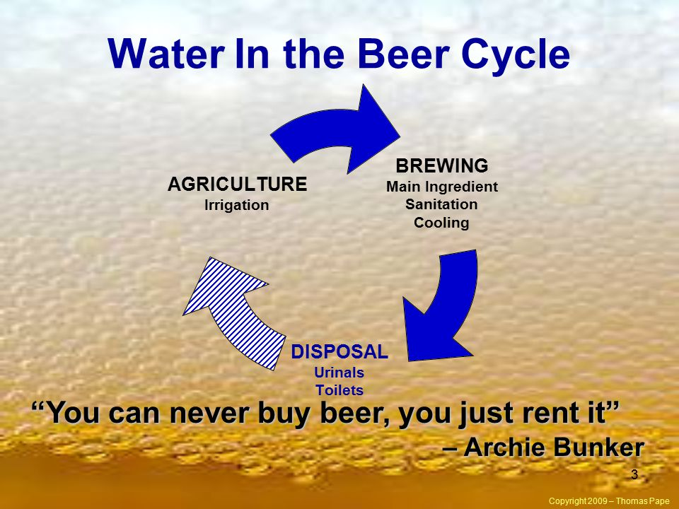 You can never buy beer, you just rent it