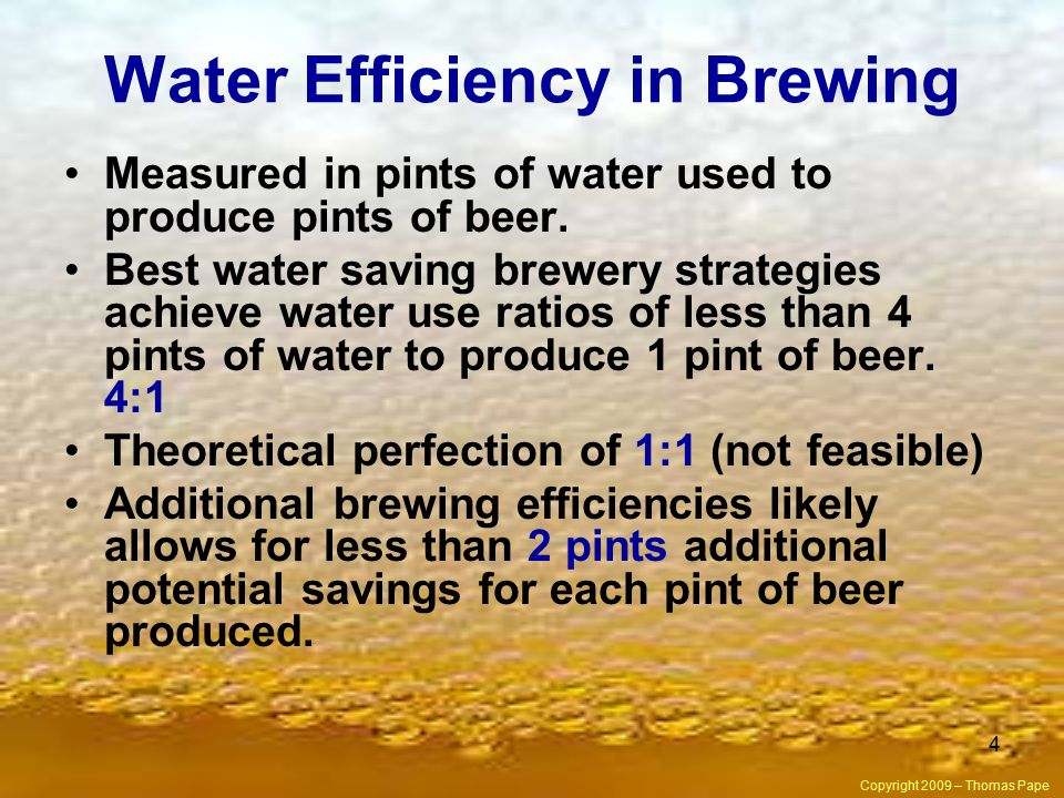 Water Efficiency in Brewing