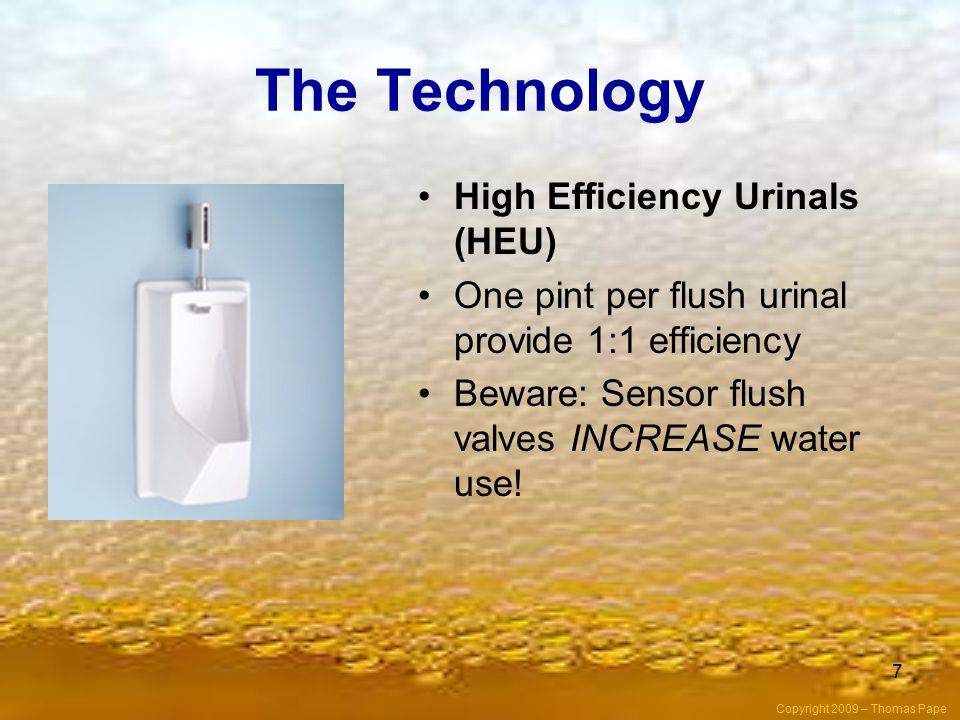 The Technology High Efficiency Urinals (HEU)