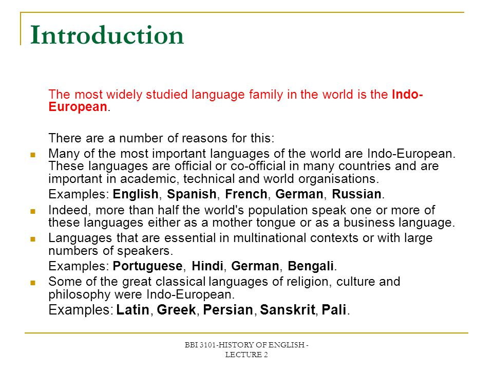 BBI 3101-HISTORY OF ENGLISH -LECTURE 2