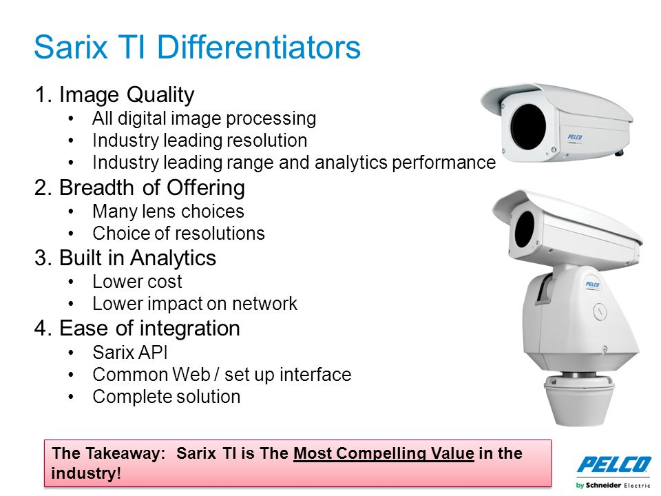 Sarix TI Differentiators