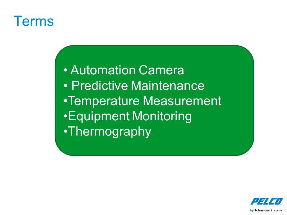 Terms Automation Camera Predictive Maintenance Temperature Measurement