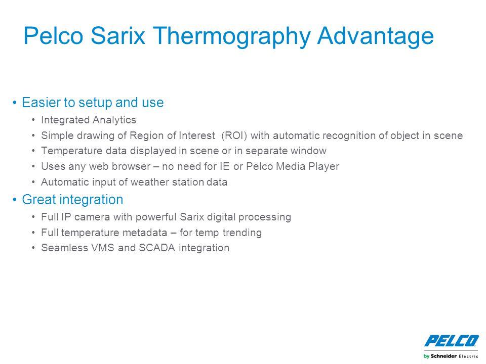 Pelco Sarix Thermography Advantage