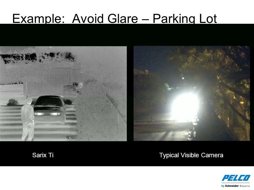 Example: Avoid Glare – Parking Lot