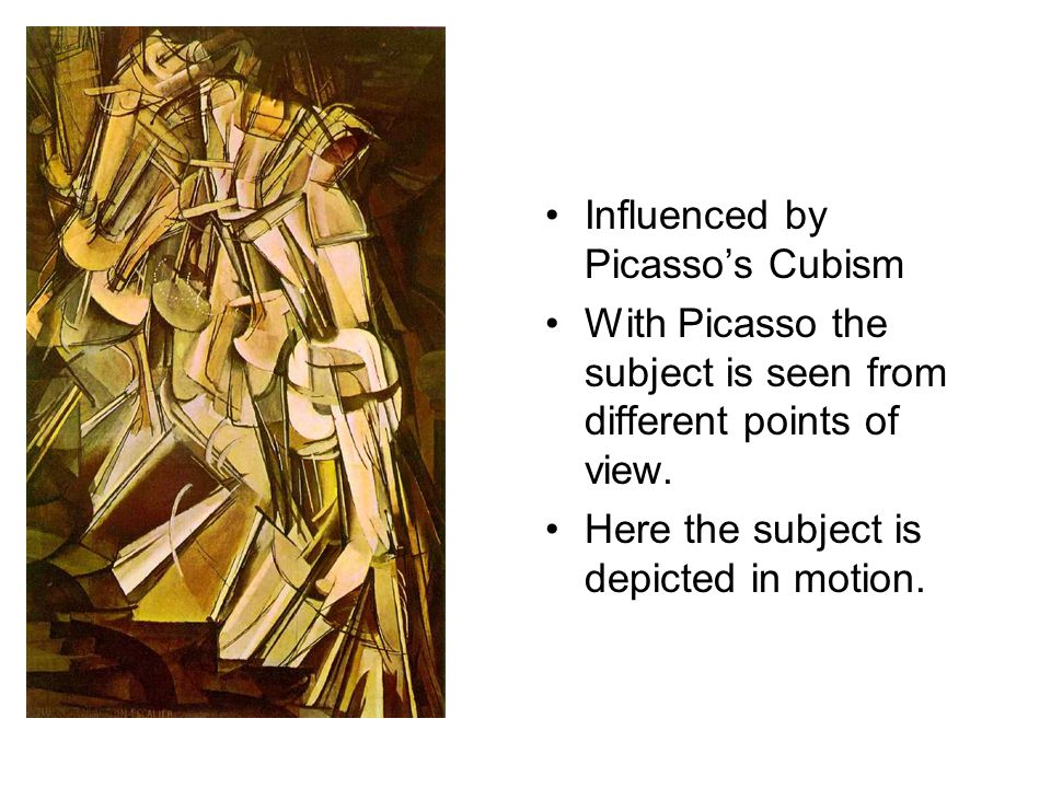 Influenced by Picasso's Cubism
