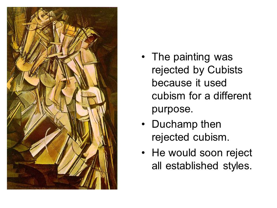 The painting was rejected by Cubists because it used cubism for a different purpose.