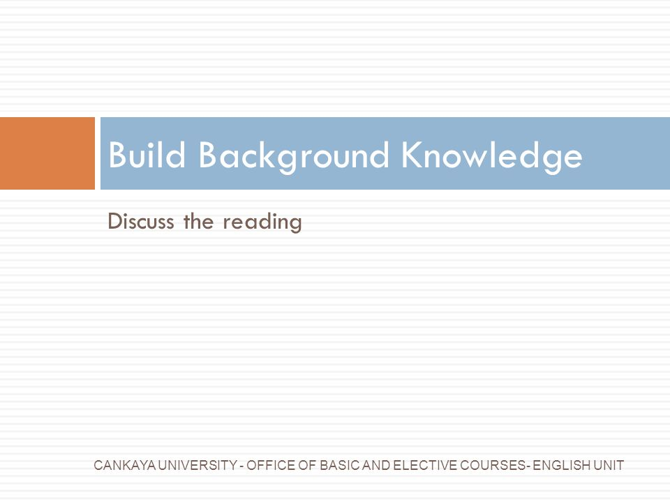 Build Background Knowledge