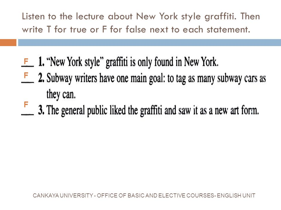Listen to the lecture about New York style graffiti