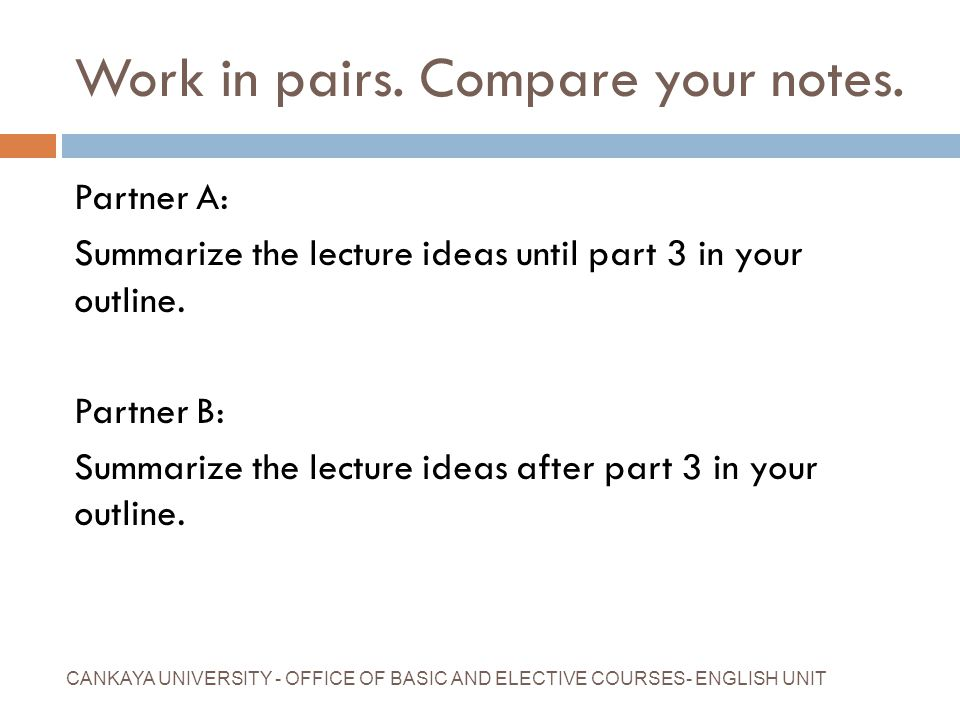 Work in pairs. Compare your notes.
