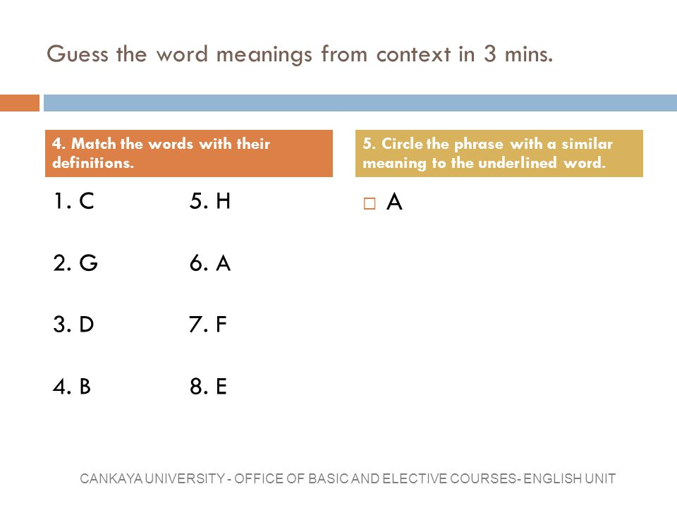 Guess the word meanings from context in 3 mins.