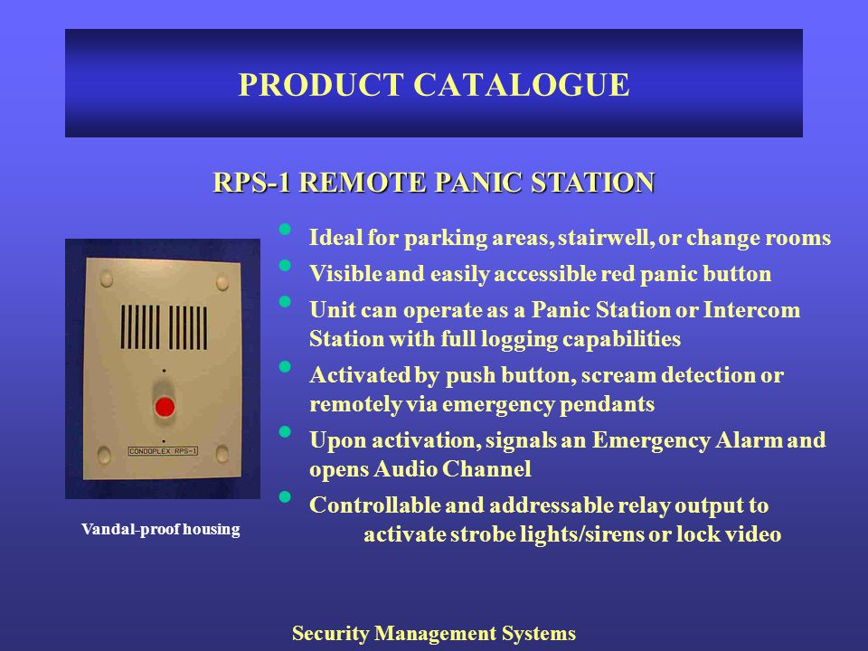 RPS-1 REMOTE PANIC STATION Security Management Systems