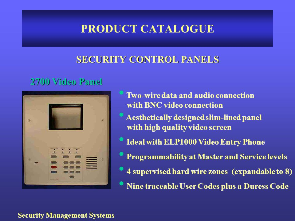 SECURITY CONTROL PANELS