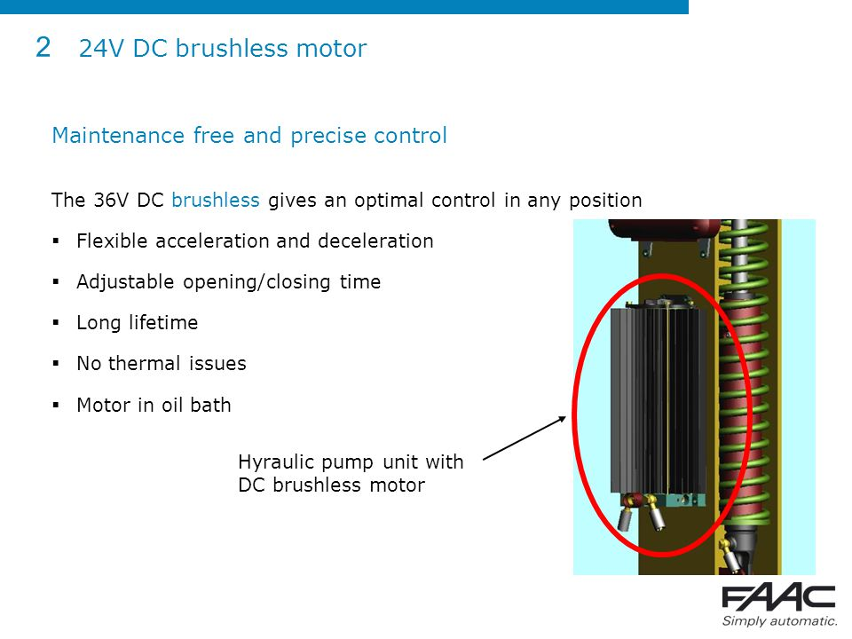 2 24V DC brushless motor Maintenance free and precise control