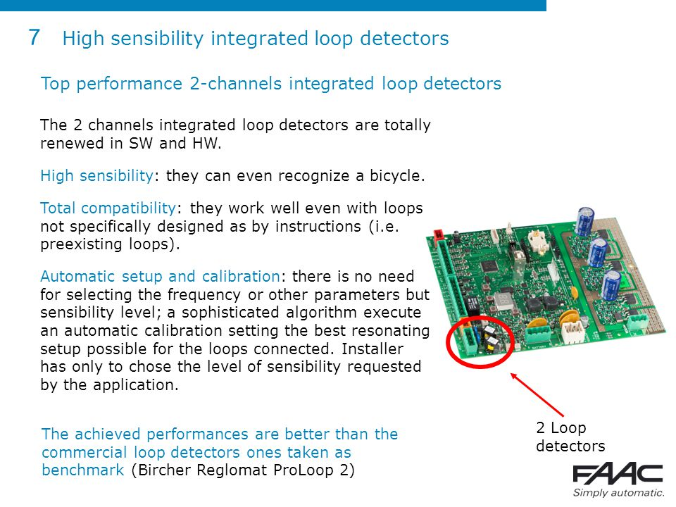 7 High sensibility integrated loop detectors