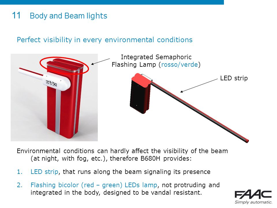 Integrated Semaphoric Flashing Lamp (rosso/verde)