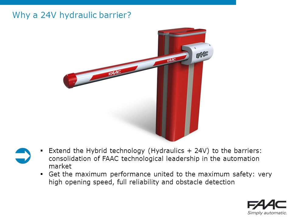  Why a 24V hydraulic barrier