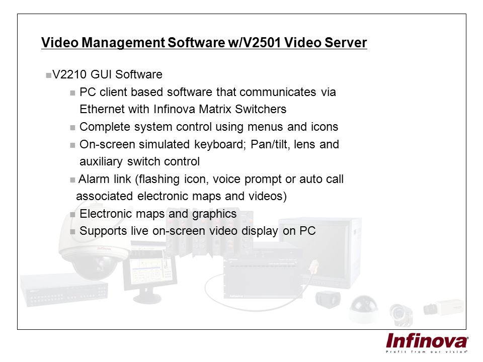 Video Management Software w/V2501 Video Server