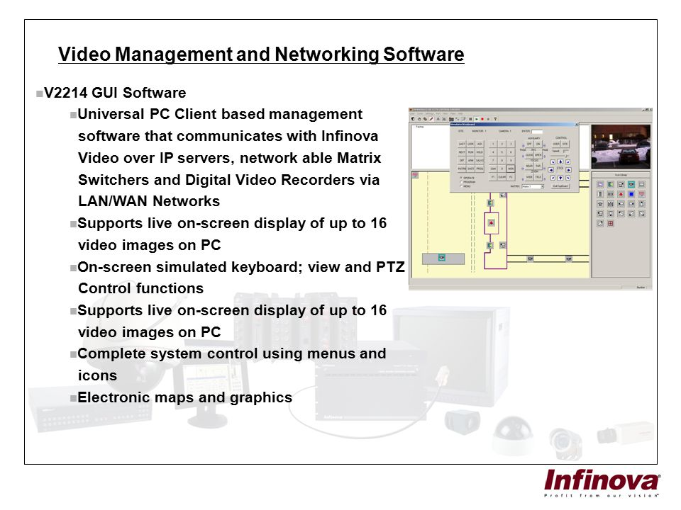 Video Management and Networking Software