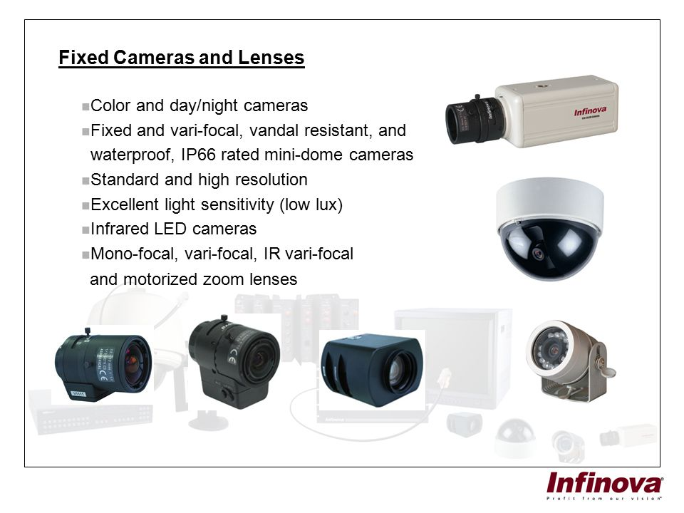 Fixed Cameras and Lenses