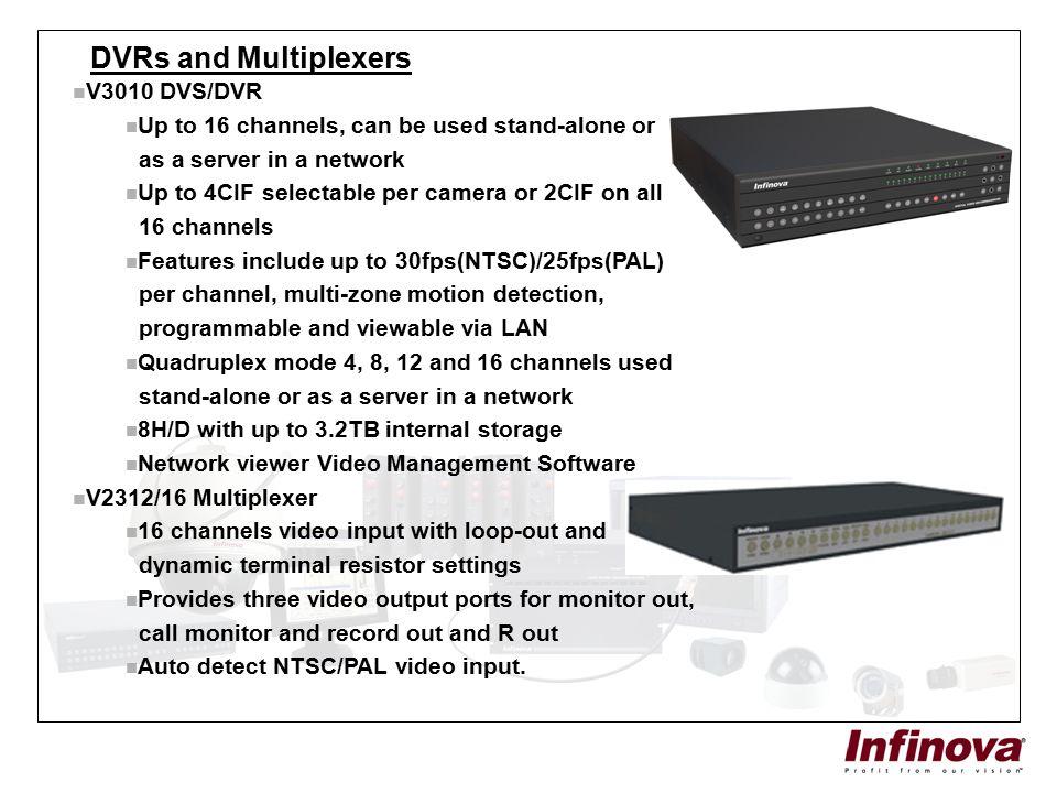 DVRs and Multiplexers V3010 DVS/DVR