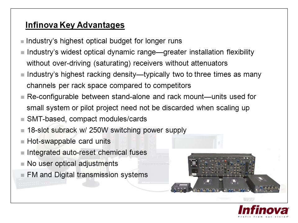 Infinova Key Advantages