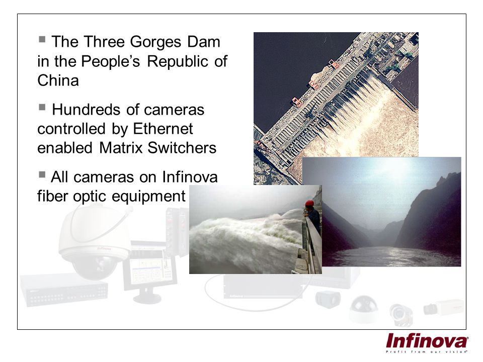 The Three Gorges Dam in the People's Republic of China