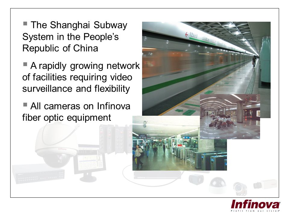 The Shanghai Subway System in the People's Republic of China