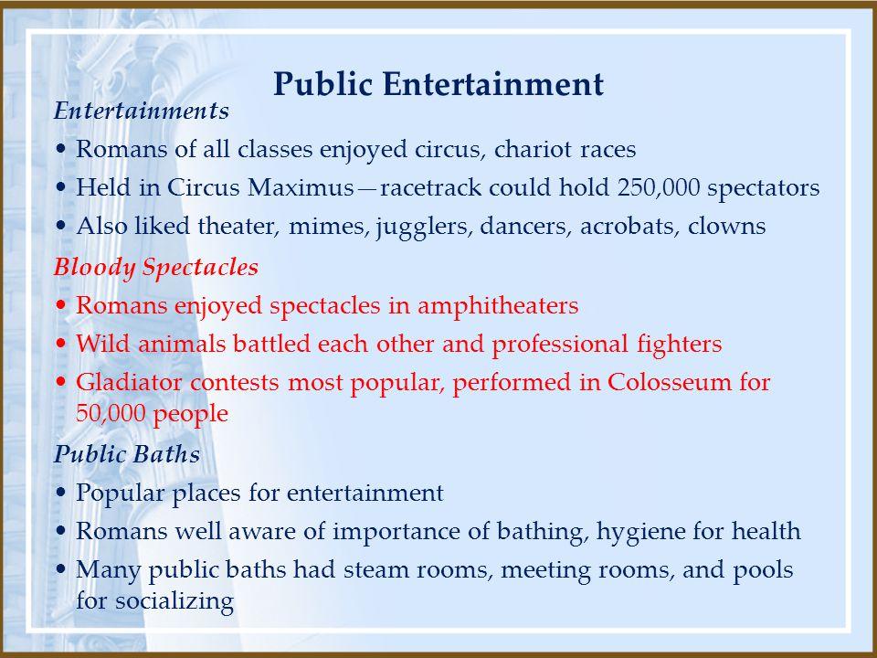 Public Entertainment Entertainments