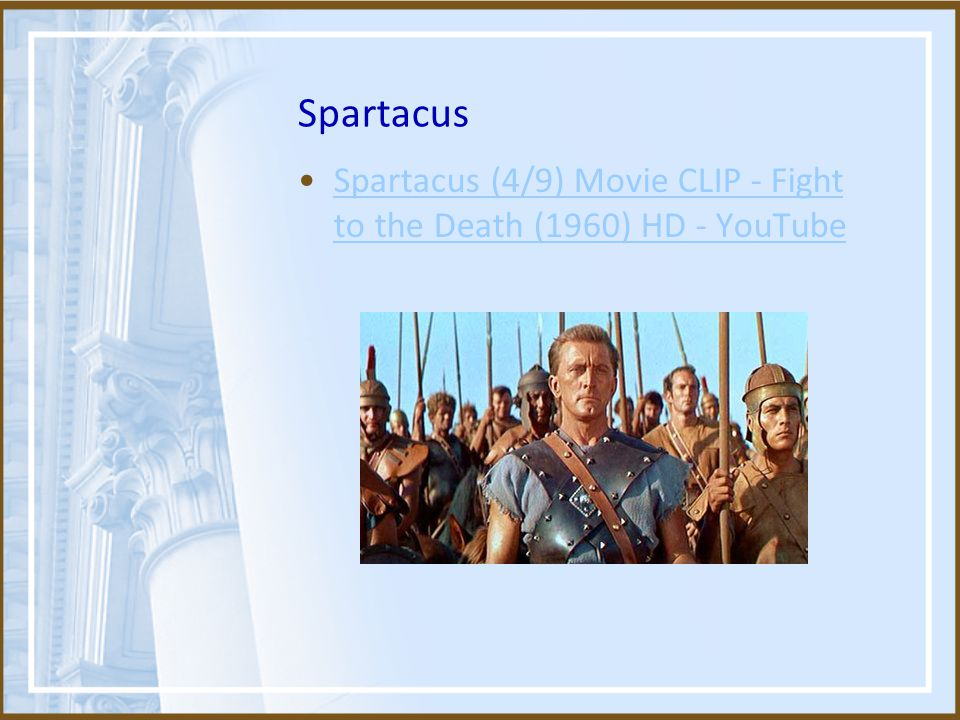 Spartacus Spartacus (4/9) Movie CLIP - Fight to the Death (1960) HD - YouTube