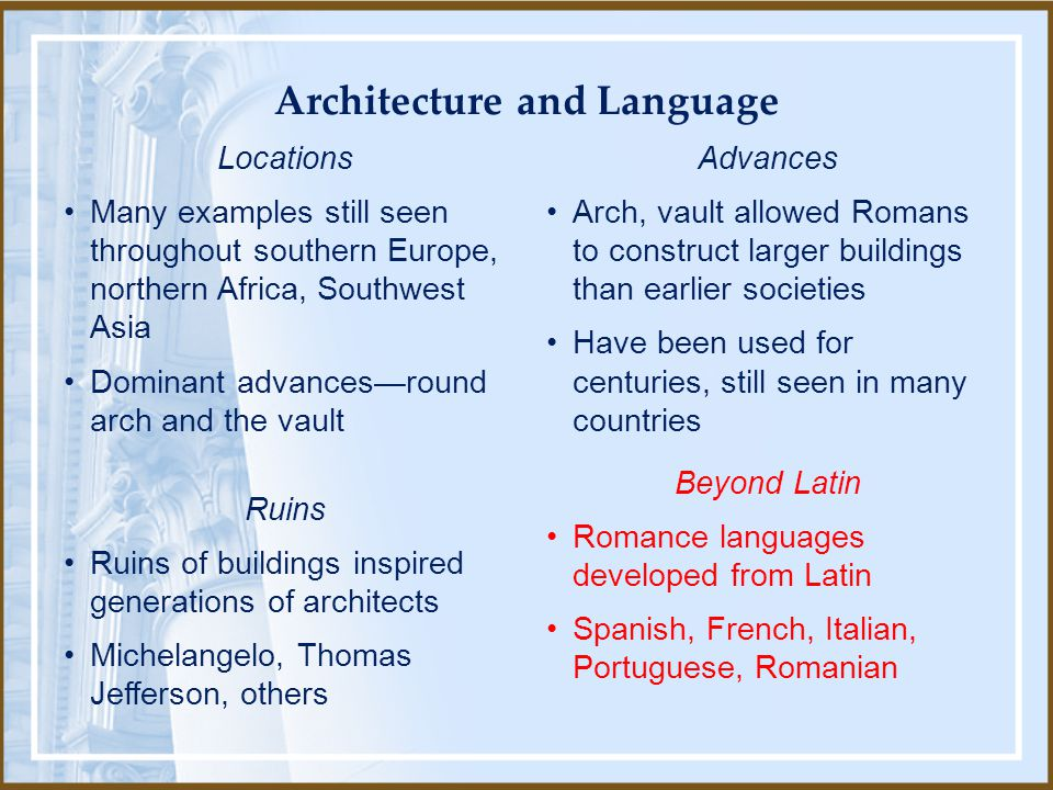Architecture and Language