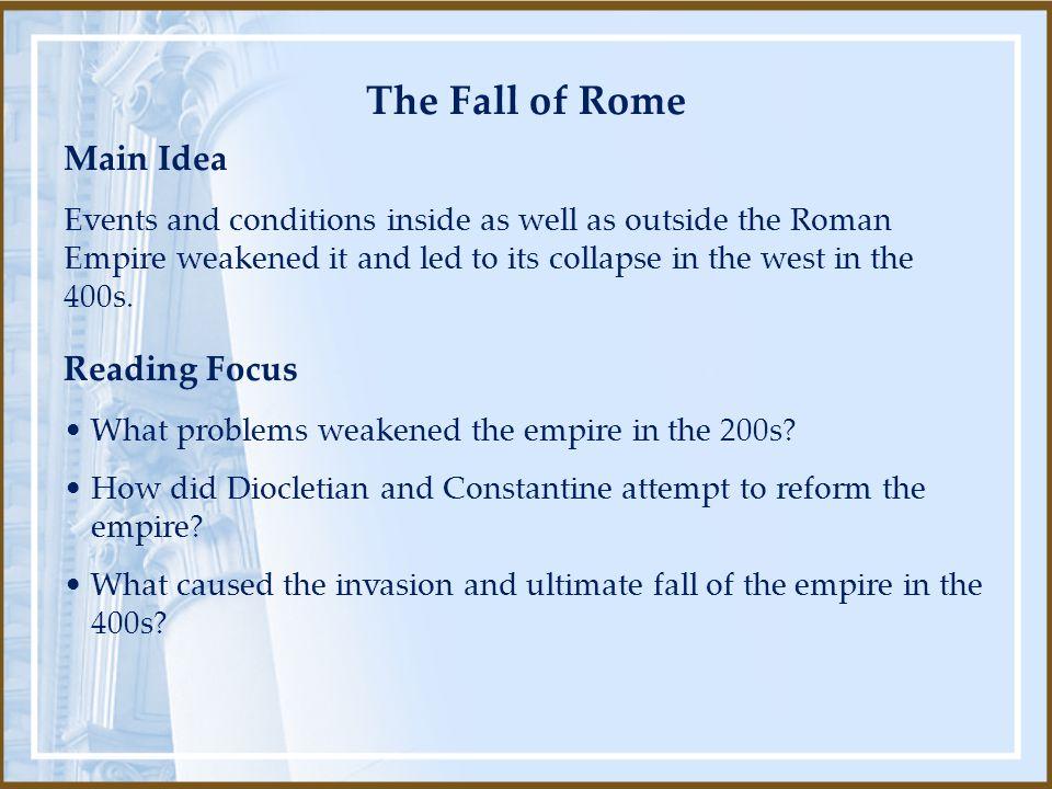 The Fall of Rome Main Idea Reading Focus