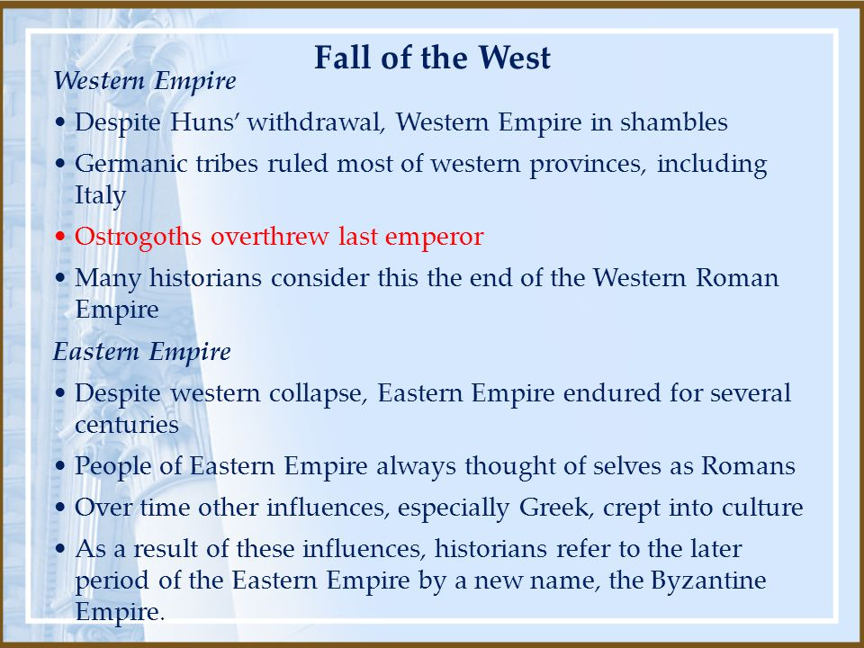Fall of the West Western Empire