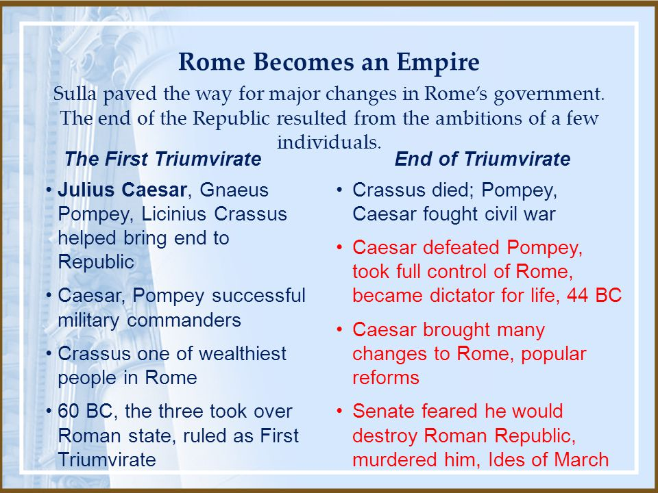Rome Becomes an Empire