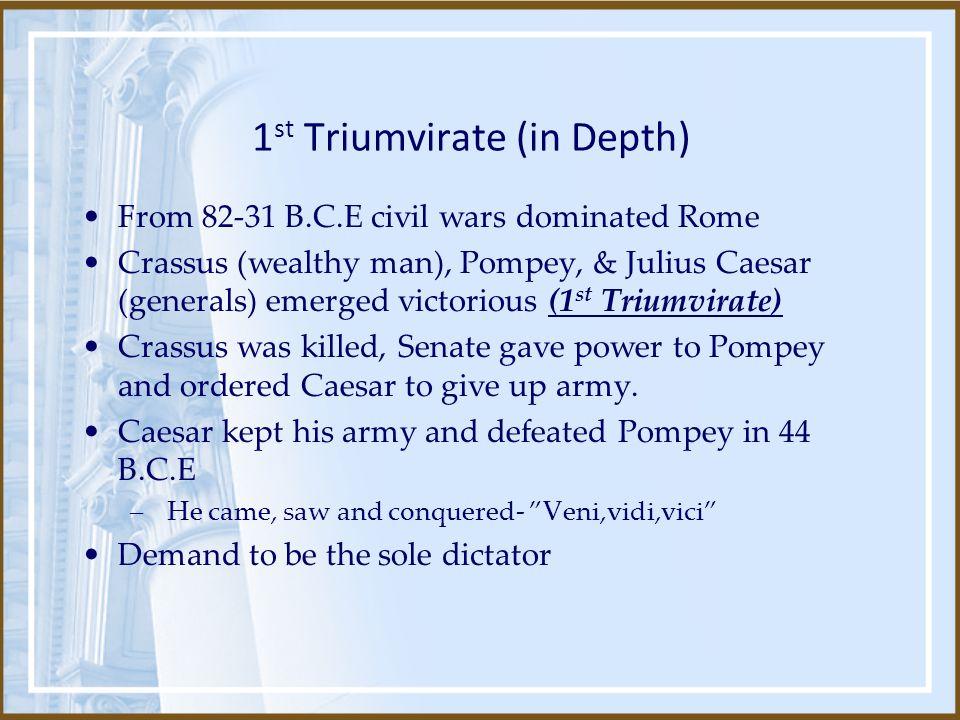 1st Triumvirate (in Depth)
