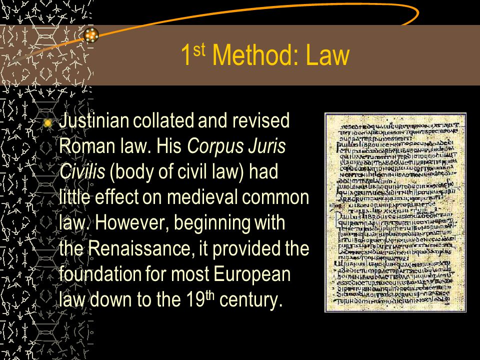 1st Method: Law