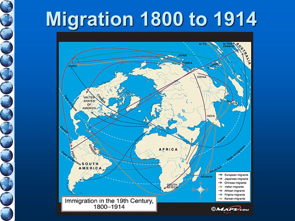 Migration 1800 to 1914