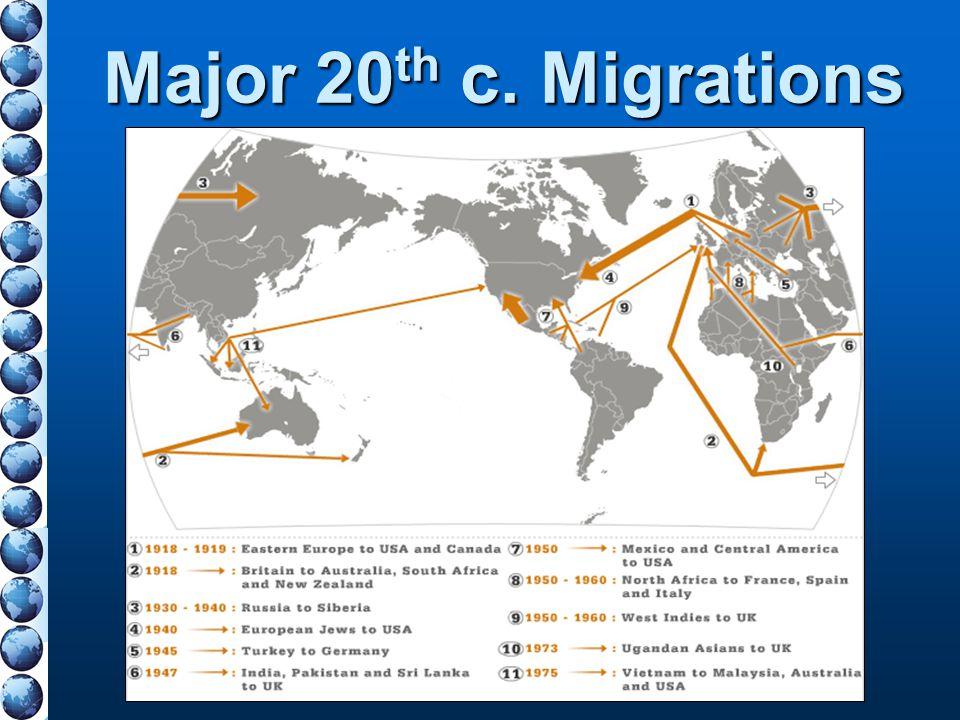 Major 20th c. Migrations