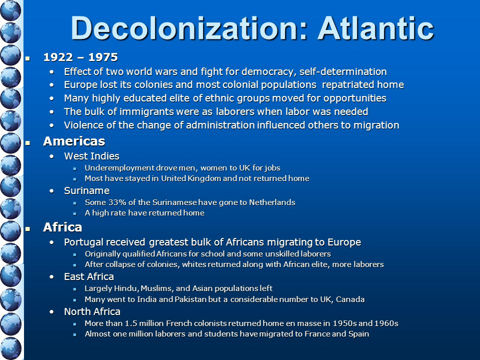 Decolonization: Atlantic