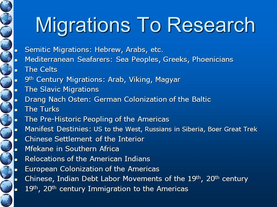Migrations To Research