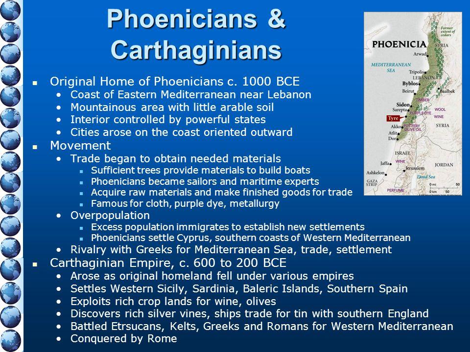 Phoenicians & Carthaginians