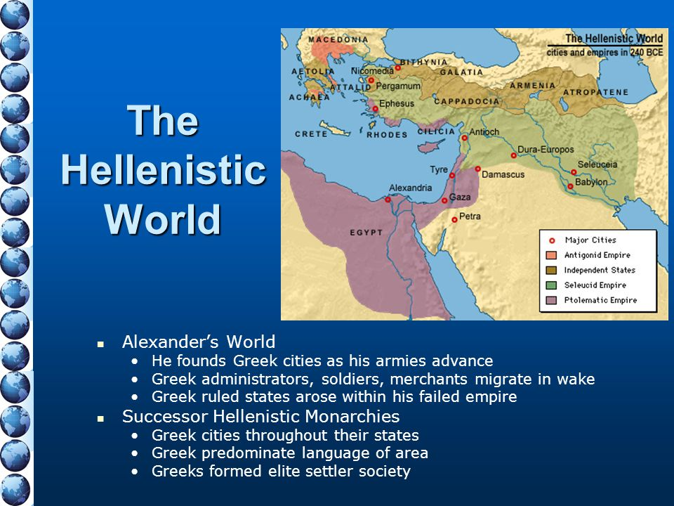 The Hellenistic World Alexander's World