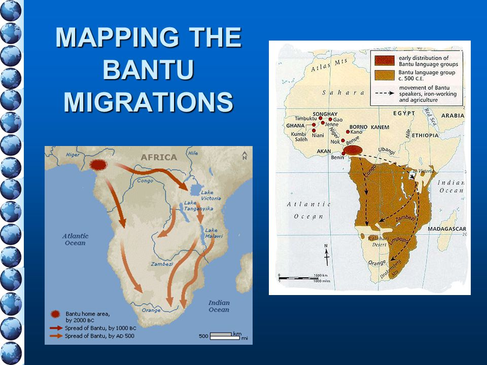 MAPPING THE BANTU MIGRATIONS