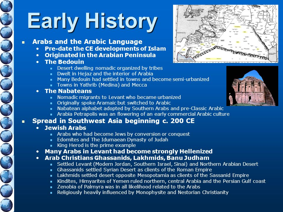 Early History Arabs and the Arabic Language
