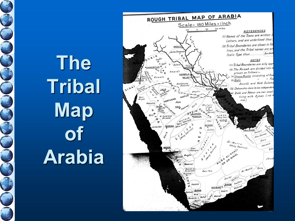 The Tribal Map of Arabia