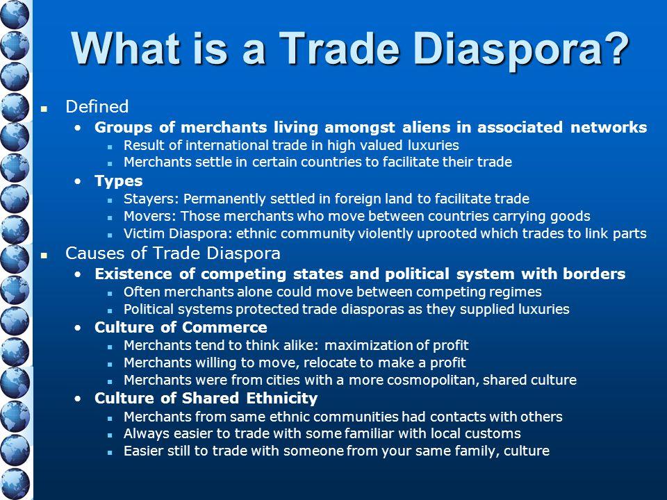 What is a Trade Diaspora