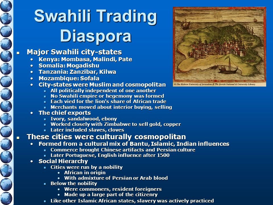 Swahili Trading Diaspora