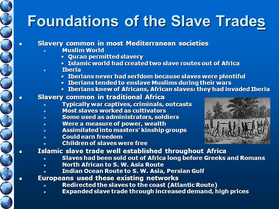 Foundations of the Slave Trades