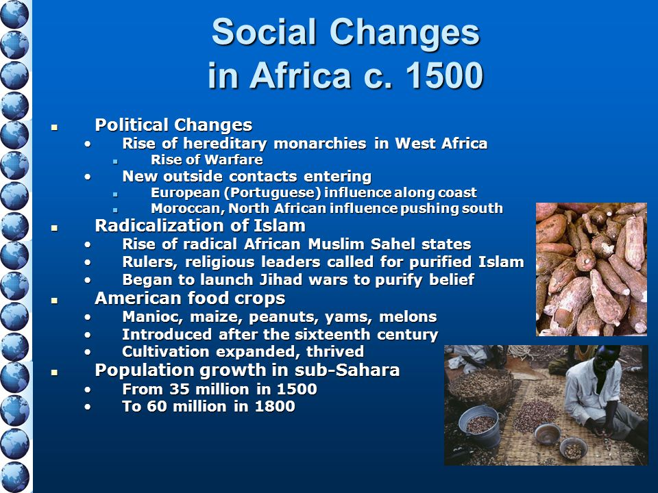 Social Changes in Africa c. 1500
