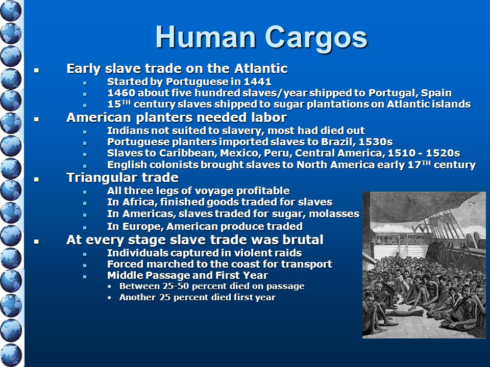 Human Cargos Early slave trade on the Atlantic